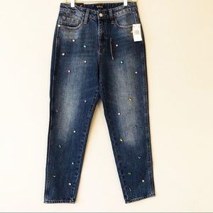BUFFALO David Bitton High Rise Girlfriend Jeans